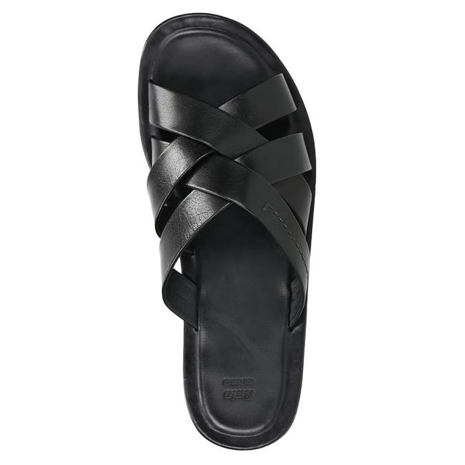 Pánské kožené nazouváky černé bata, 2021-864-6601 - 19