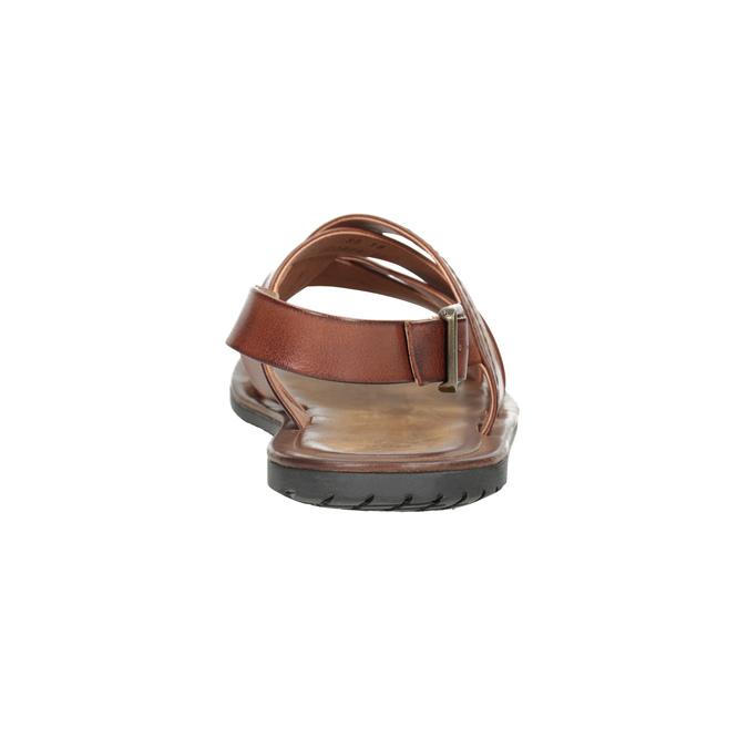 Pánské kožené sandály hnědé bata, hnědá, 866-3602 - 15