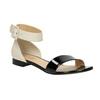 Lakované kožené sandály bata, černá, 568-6606 - 13