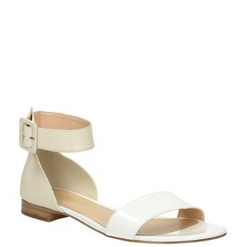 Kožené dámské sandály bata, bílá, 568-1606 - 13
