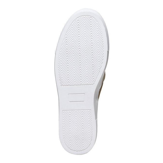 Zlatá kožená Slip-on obuv s mašlí north-star, zlatá, 514-8264 - 26