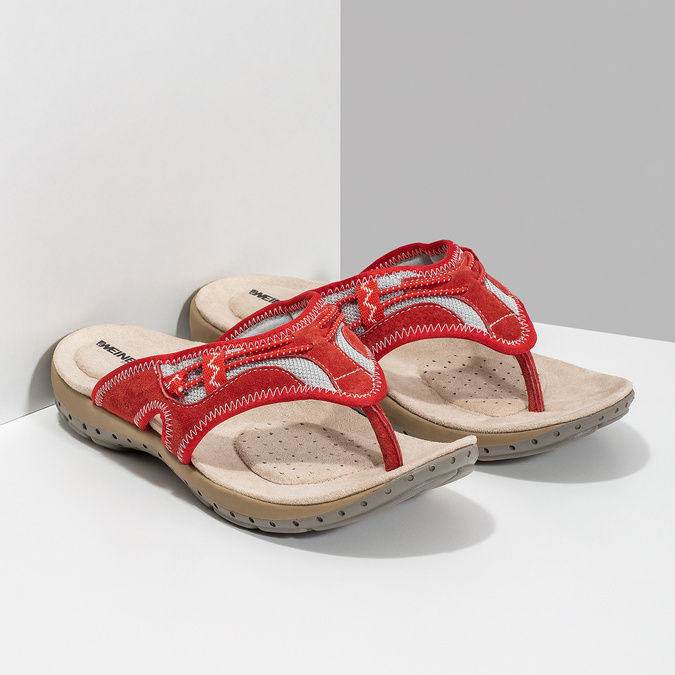 Dámské žabky ve sportovním stylu weinbrenner, červená, 566-5611 - 26