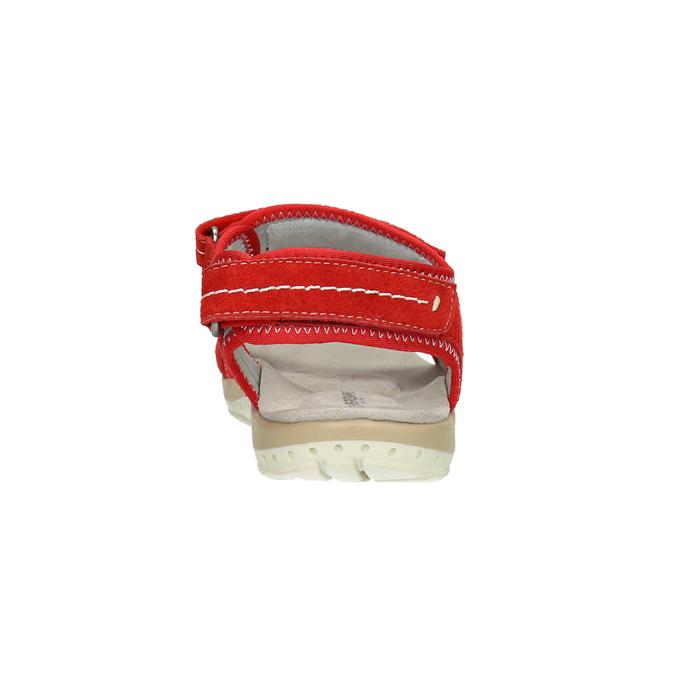 Červené dámské sandály kožené weinbrenner, červená, 566-5608 - 17