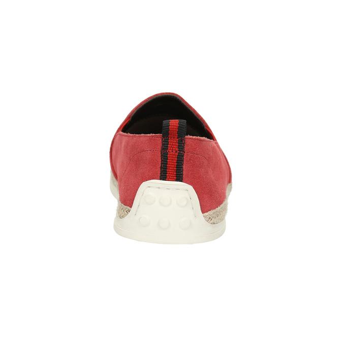Červená kožená Slip-on obuv bata, červená, 853-5615 - 17
