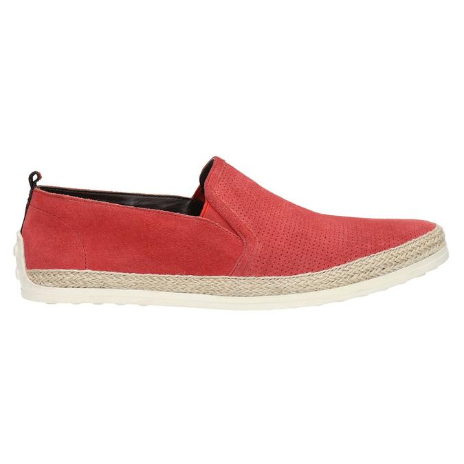 Červená kožená Slip-on obuv bata, červená, 853-5615 - 15