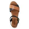 Dámské sandály na výrazné podešvi weinbrenner, černá, 566-6626 - 19