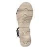 Dámské sandály na výrazné podešvi weinbrenner, černá, 566-6626 - 26