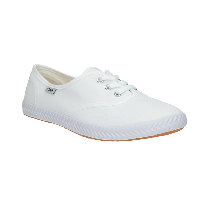 Dámské bílé tenisky tomy-takkies, bílá, 589-1180 - 13
