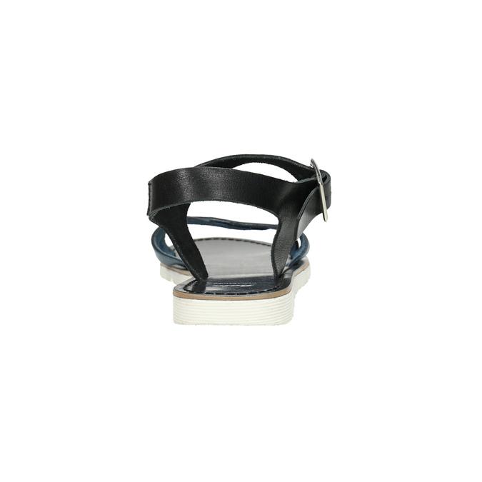 Kožené sandály s modrými pásky bata, modrá, 566-9615 - 17