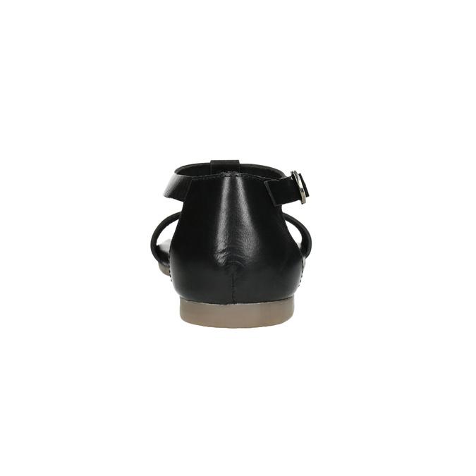 Černé kožené sandály bata, černá, 564-6600 - 17