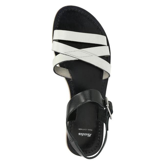 Ležérní kožené sandály bata, bílá, 566-1615 - 19