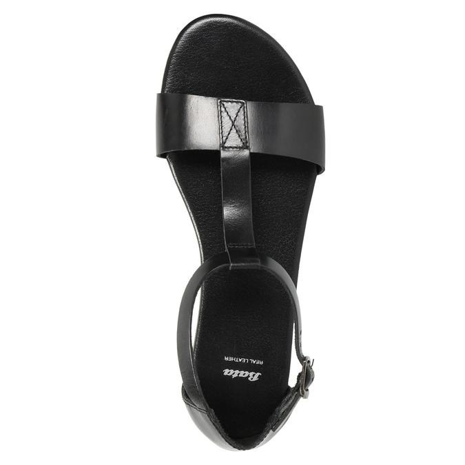 Černé kožené sandály bata, černá, 564-6600 - 19