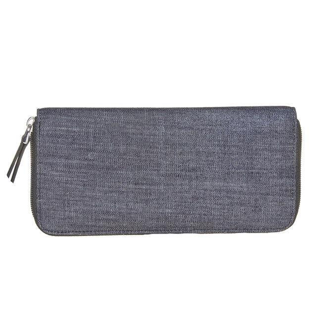 Dámská peněženka s kovovými cvoky bata, modrá, 949-9121 - 26
