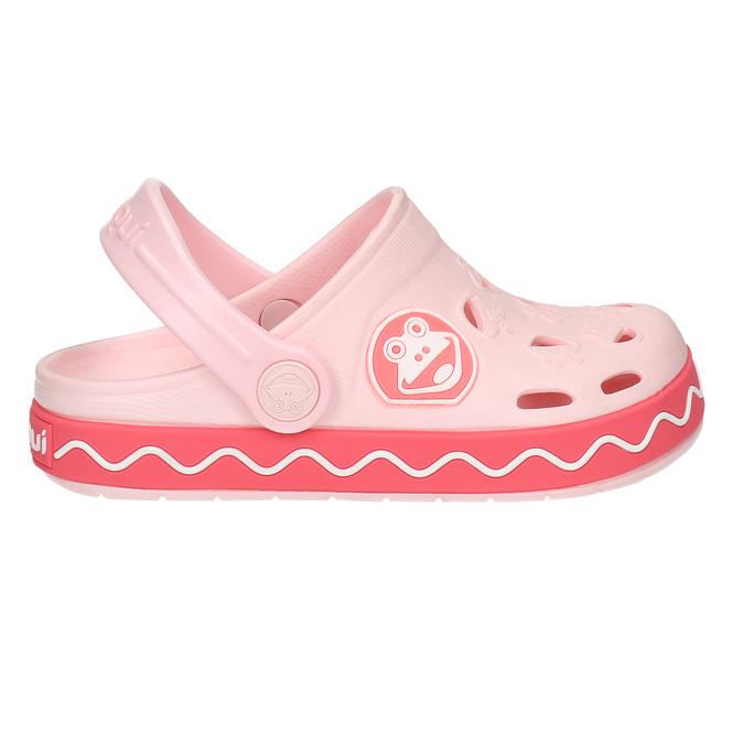 Růžové sandály s žabkou coqui, růžová, 272-5603 - 15