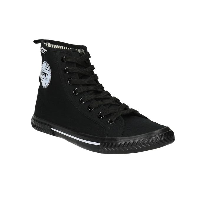 Černé kotníčkové tenisky tomy-takkies, černá, 589-6173 - 13