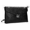 Menší černá kabelka s klopu bata, černá, 961-6731 - 13