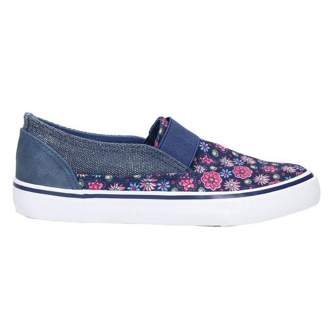 Dívčí obuv ve stylu Slip-on mini-b, modrá, 329-9611 - 15