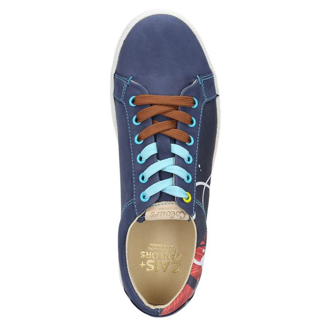 Kožené tenisky z limitované edice bata, modrá, 846-9800 - 26