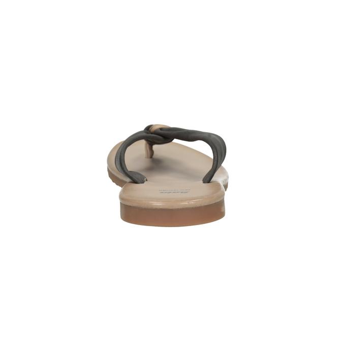 Dámské kožené žabky bata, černá, 566-6607 - 17