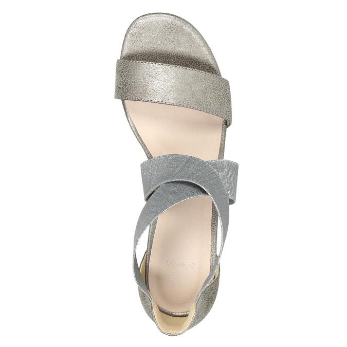 Dámské sandály na podpatku bata, šedá, 761-2614 - 19