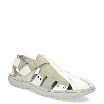 Pánské kožené sandály světlé bata, bílá, 866-1622 - 13