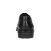 Černé polobotky pánské kožené s kulatou špičkou fluchos, černá, 824-6451 - 15