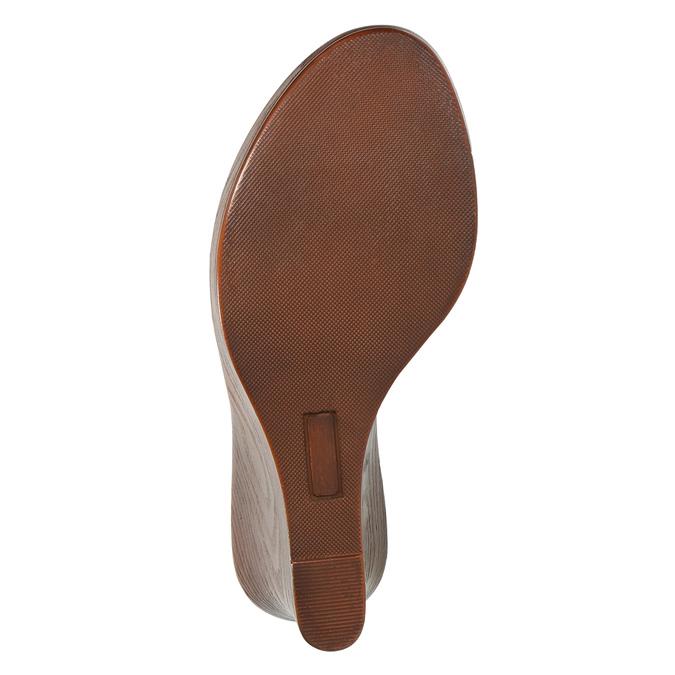 Dámské kožené nazouváky bata, černá, 766-6603 - 26