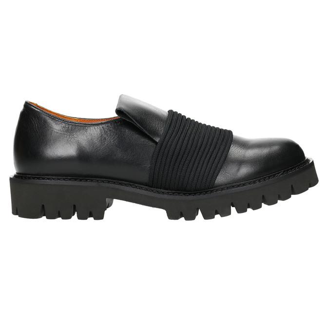 Pánská kožená obuv Loafers bata, černá, 836-6600 - 15