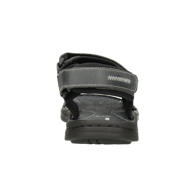Pánské kožené sandály bata, šedá, 866-2628 - 16
