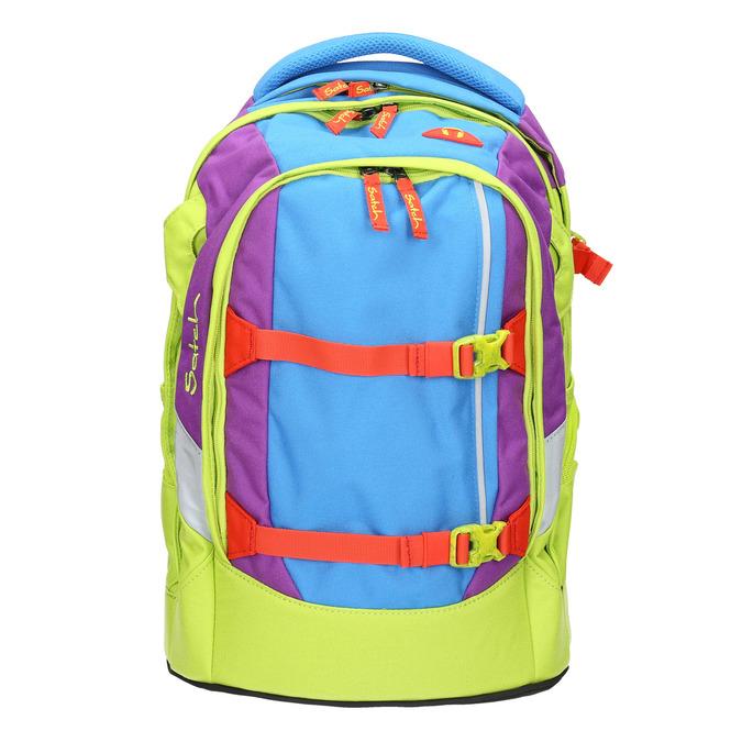 Školní batoh s přezkami satch, zelená, 969-7047 - 26