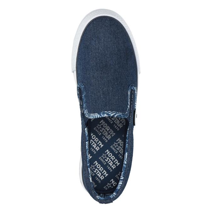 Denimová dámská Slip-on obuv north-star, modrá, 589-9440 - 19