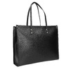 Kabelka s pleteným vzorem bata, černá, 961-6540 - 13