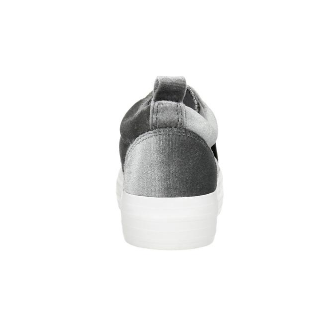 Sametové dámské Slip-on na flatformě north-star, šedá, 519-2604 - 17