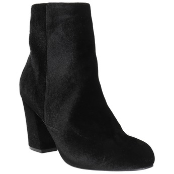 Černé dámské kozačky na podpatku bata, černá, 799-6616 - 13