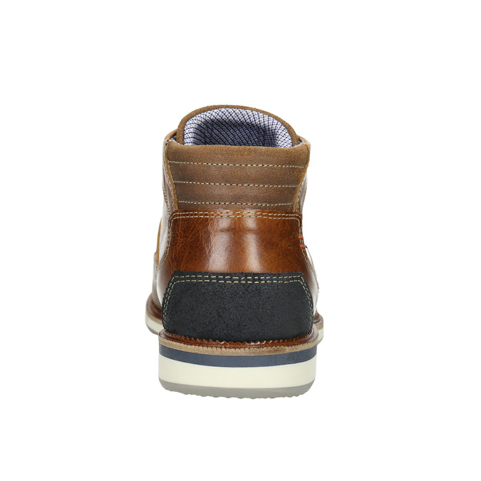 Ležérní kotníčková obuv z kůže bata, hnědá, 826-3912 - 17