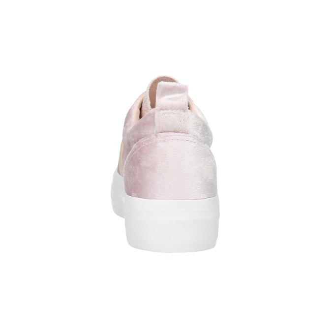 Růžové sametové Slip-on north-star, růžová, 519-5604 - 17