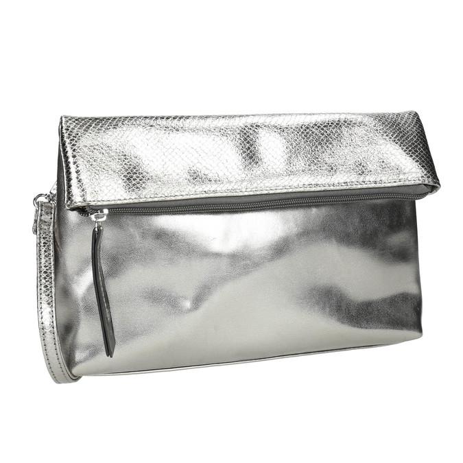 Stříbrná Crossbody kabelka bata, stříbrná, 961-1501 - 13