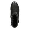 Kotníčkové dámské kozačky se cvoky bata, černá, 596-6658 - 15