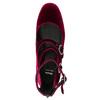 Vínové dámské lodičky s pásky bata, červená, 629-5632 - 26