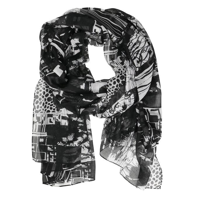 Dámský šátek se vzorem bata, černá, 909-6626 - 13