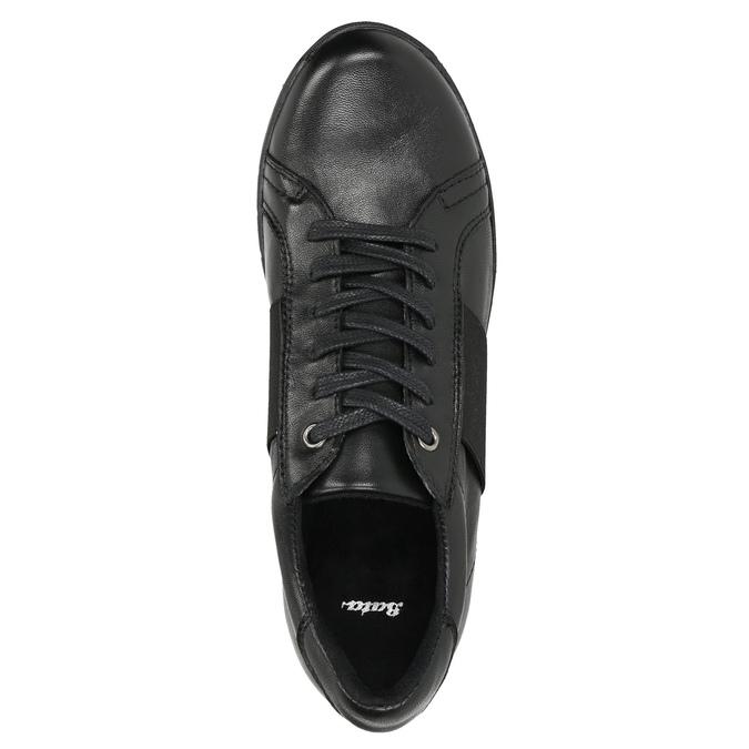 Ležérní kožené tenisky bata, černá, 524-6606 - 26