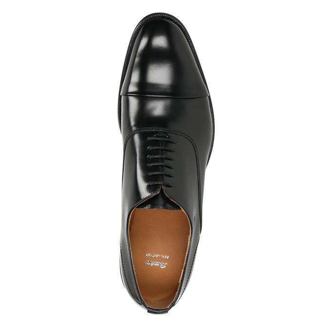 Černé kožené Oxford polobotky bata, černá, 826-6671 - 15