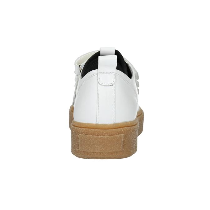 Kožené dámské tenisky na suché zipy bata, bílá, 526-1646 - 16