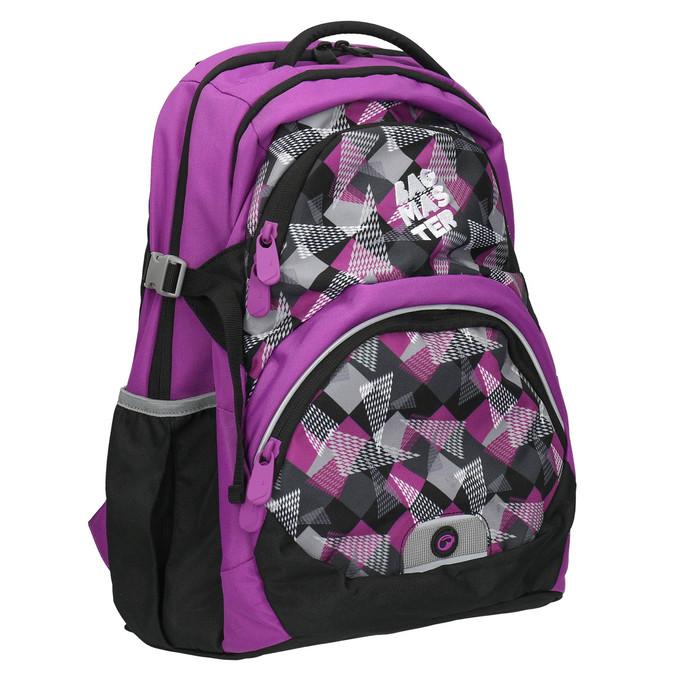 Školní batoh s potiskem bagmaster, fialová, 969-5656 - 13