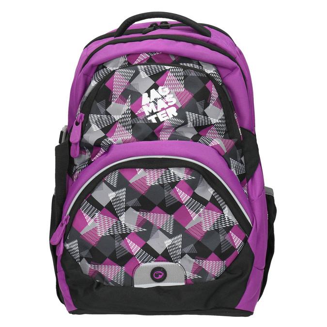 Školní batoh s potiskem bagmaster, fialová, 969-5656 - 26