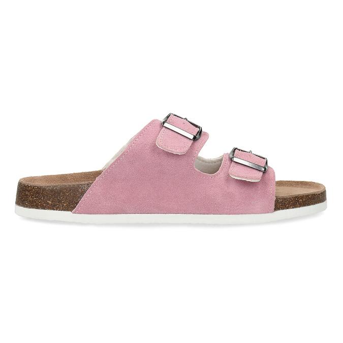 Kožená domácí obuv dámská de-fonseca, růžová, 573-5621 - 19