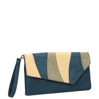 Modré dámské psaníčko s poutkem bata, modrá, 969-9664 - 13