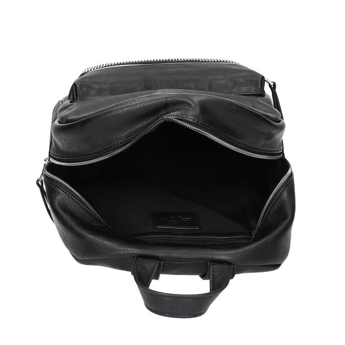 Černý dámský batoh s kamínky bata, černá, 961-6855 - 15