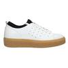 Dámské kožené tenisky na flatformě bata, bílá, 526-1645 - 15