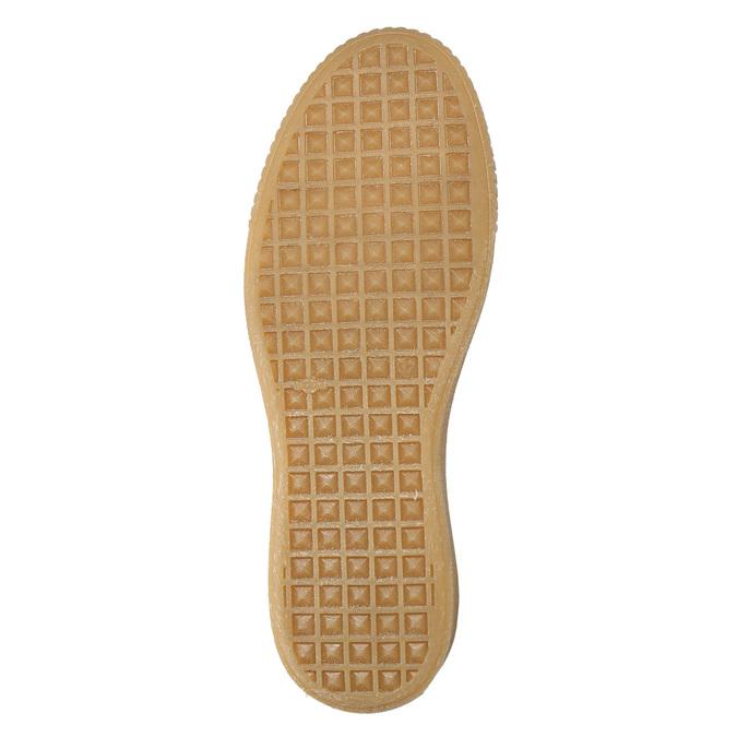 Dámské kožené tenisky na flatformě bata, bílá, 526-1645 - 19